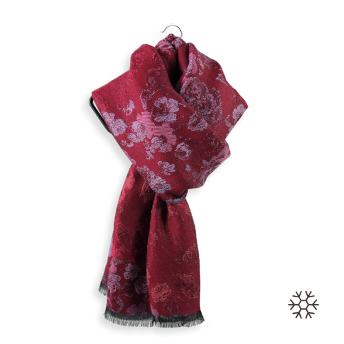 Woman-stole-woll-coton-modal-red-florence-2A