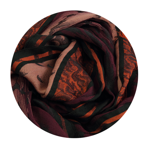 Scarf-man-atome-wool-silk-bordeaux-red