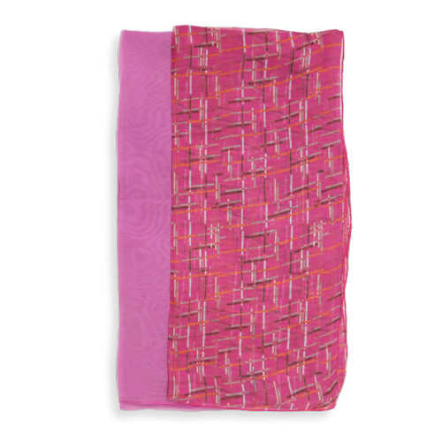 Scarf-woman-square-duo-silk-Rose-3A
