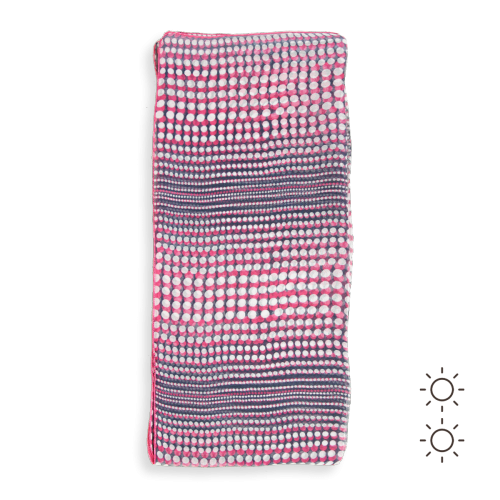 Printed-silk-woman-stole-dots-navy-pink-3A