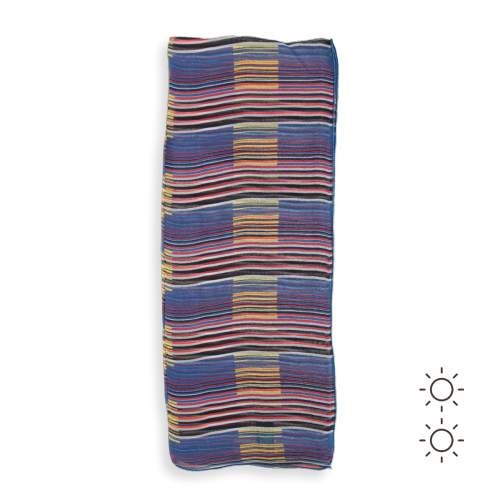 Woman-scarf-silk-stripe-blue-multicolor-2A